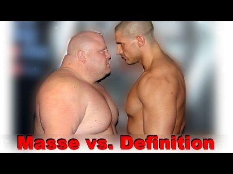 Masse vs. Definition