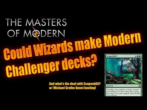 Could Wizards make Modern Challenger decks?