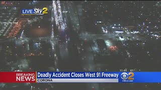 2 Drivers Killed In Accident On 91 Freeway