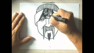 Speed drawing a cholo #8