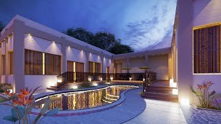 تصميم استراحة مودرن بسيطا في ولاية بركاء , استراحة تصميم حديث وبسيط في سلطنة عمان .