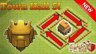 Clash of Clans | 'BEST' Th5 Trophy Base Layout Defense Strategy | Clash of Clan base