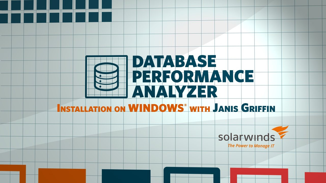 SolarWinds Database Performance Analyzer - Installing on Windows
