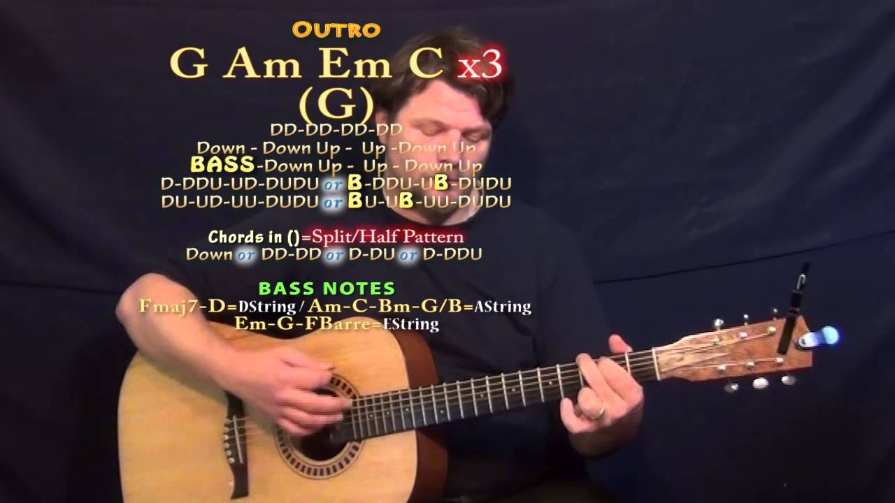 Halo (Jordan Smith) Guitar Lesson Chord Chart - Standard Tuning ...