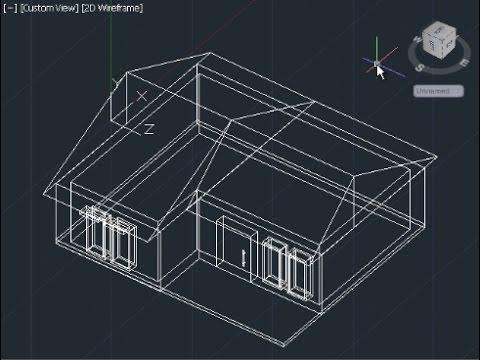 AutoCAD 3D House Modeling Tutorial Beginner (Basic) - YouTube