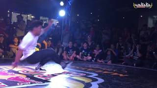Redbull Bc One Malaysia Cypher 2015 Top 16 - Iron Kid Vs Legosam