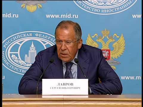 Брифинг С.В.Лаврова, 28 июля 2014 года