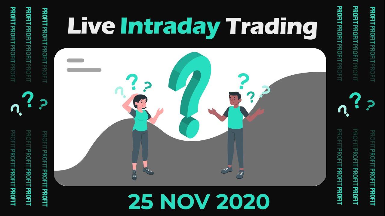 Live Intraday Price Action Trading || VP Financials || 25 NOV 2020