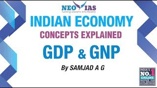 GDP and GNP | National Income Part-1 | Indian Economy