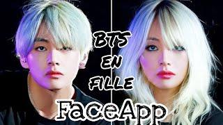 BTS en fille [FaceApp] screenshot 1
