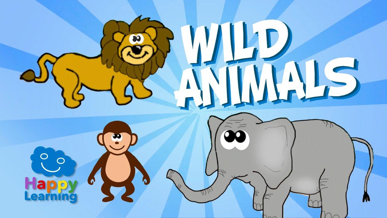 Aprende Inglés Los Animales Salvajes En Inglés Videos Educativos Para Niños