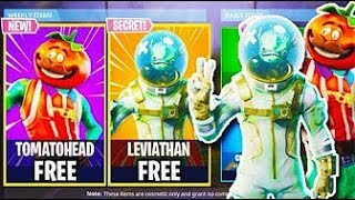 "NEW SKIN UPDATE! - FREE NEW ""Tomato Head + Leviathan SKINS"" in Fortnite! - Fortnite Battle Royale"