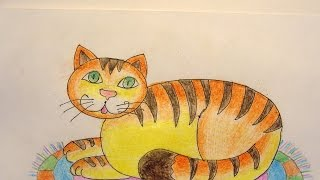 Draw a Cat Resting on a Rug - DIY Crafts - Guidecentral