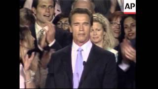 Arnold Schwarzenegger election vicтory speech