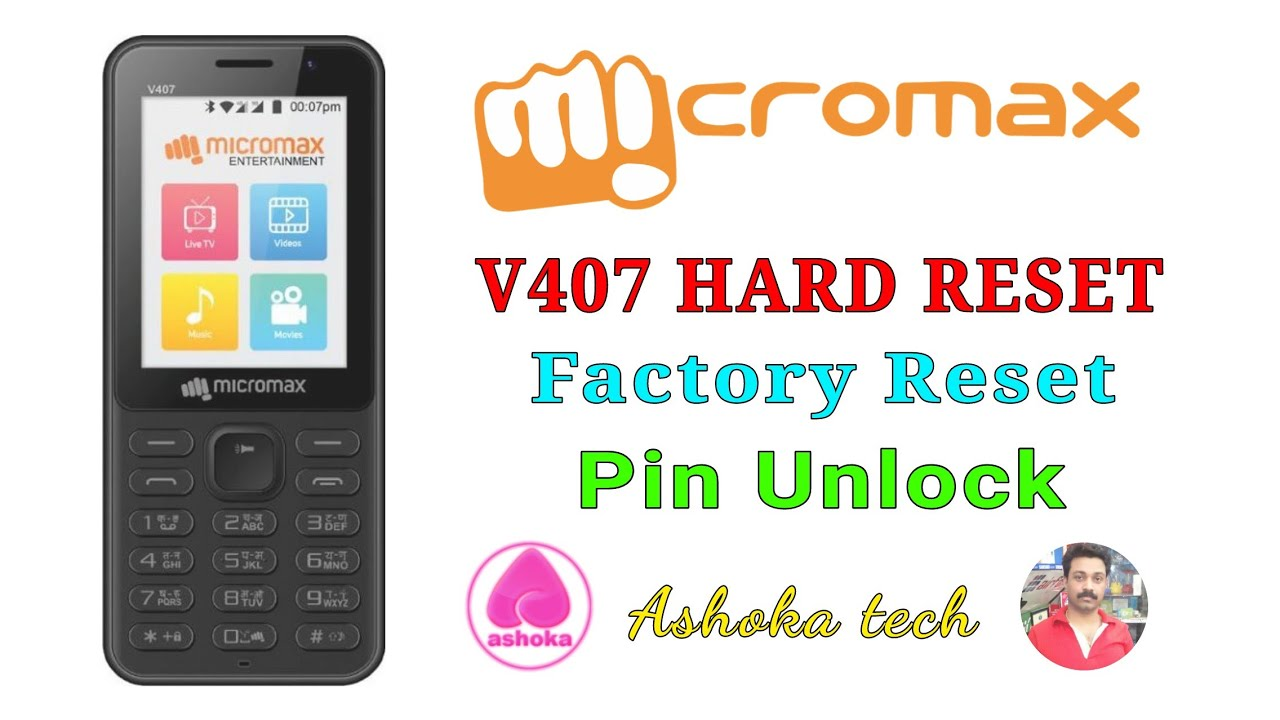 cheap for discount a9ff9 82efb Micromax V407 Bharat 1 keypad phone unlock Reset easy solution/pin unlock