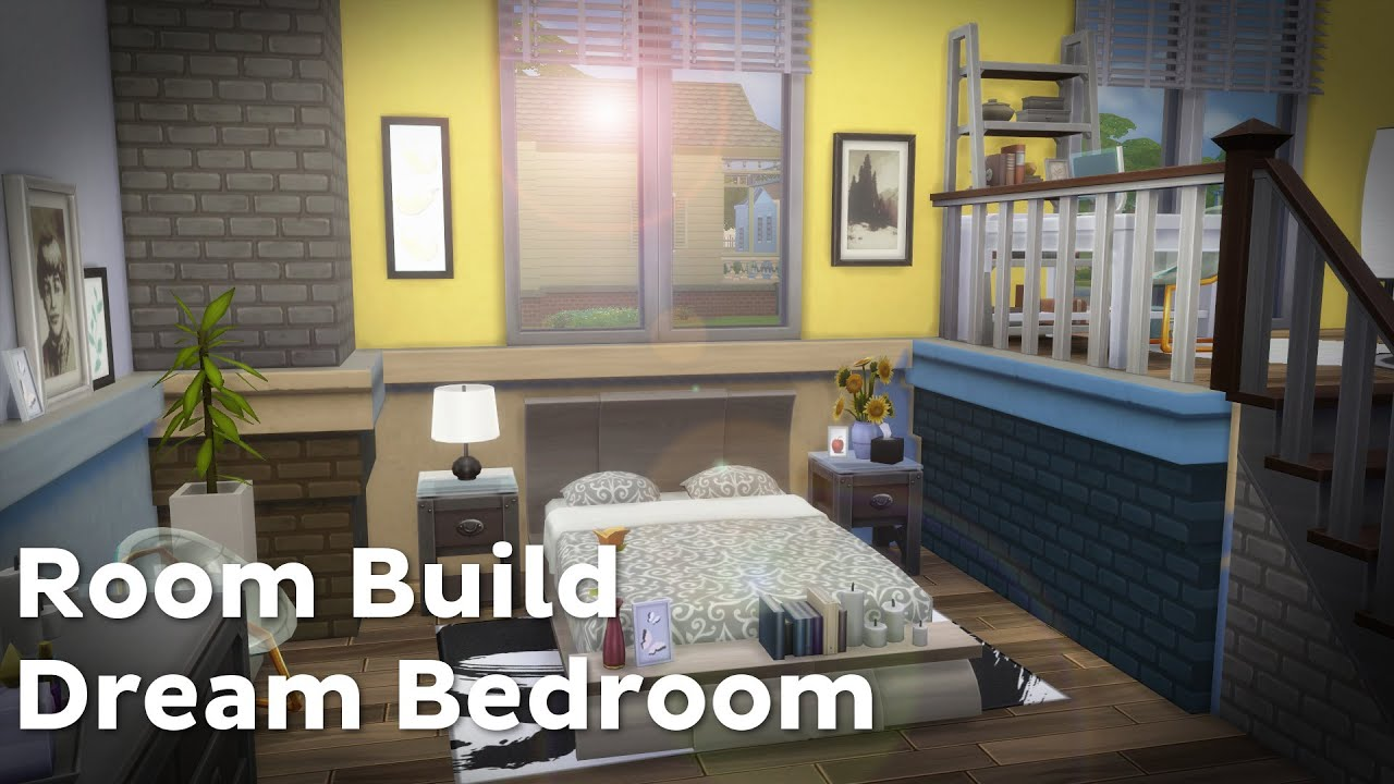 The sims 4 room build dream bedroom youtube for Make your dream bedroom