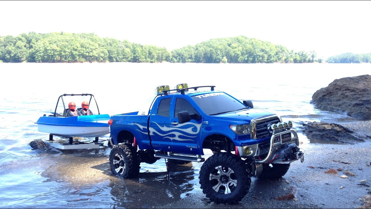 Tamiya toyota tundra rc boat launch tybo 39 s rc for Toyota tundra motor for sale