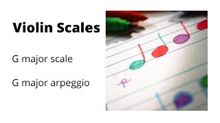 G Major Scale and Arpeggio for Violin Play Along