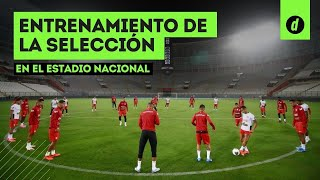Perú vs. Colombia: La SELECCIÓN PERUANA reconoció la CANCHA del Estadio Nacional