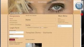 12webmaster Joomla Template 2811 und seine Besondeheiten