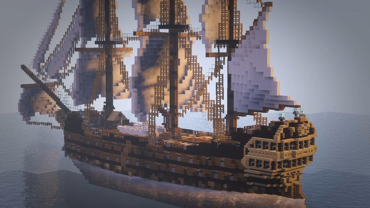 корабль в майнкрафт карта стойка прямым