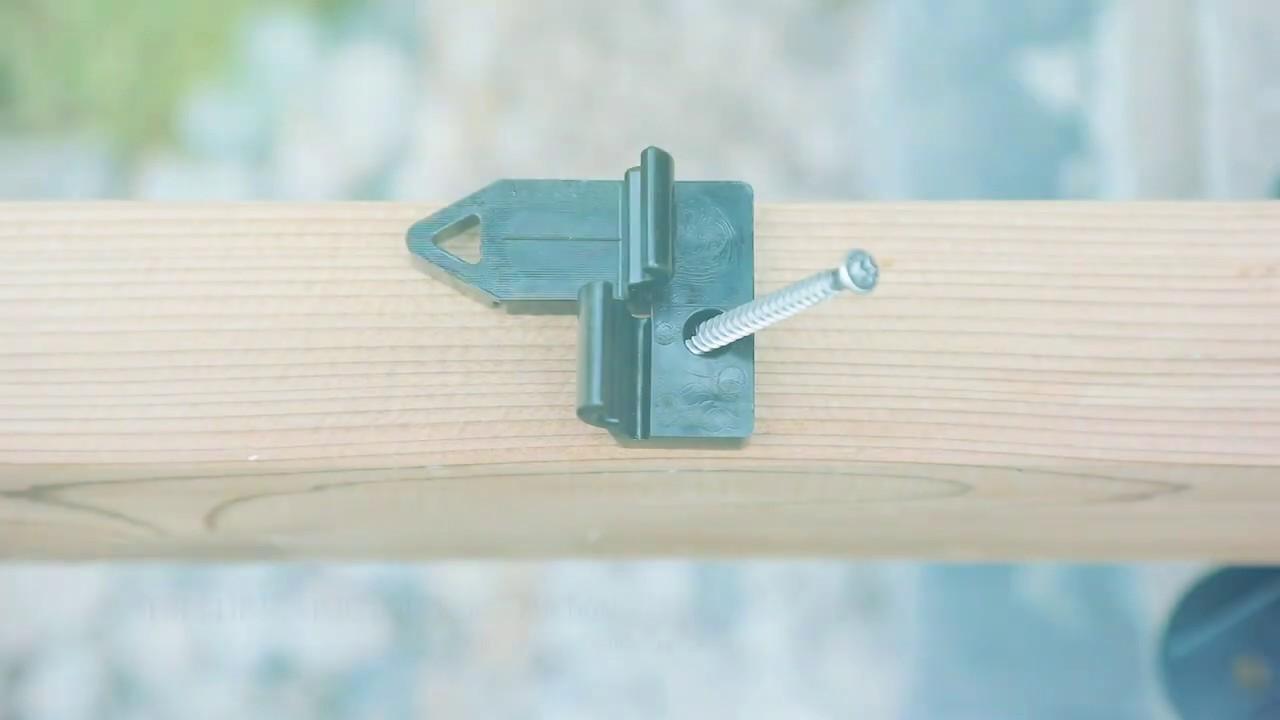 SWERO TENI Verlegeclip - Einfache Verlegung und unsichtbare Terrassenbefestigung!