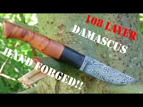 knife making - Hand forged Damascus knife