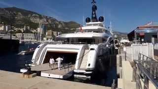Okto (Isa) & YALLA (CRN 132)   73meter super yachts Monaco yacht show