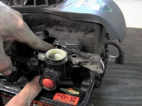 How to replace the diaphragm on Briggs and Stratton - YouTube