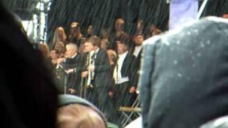 Kungssången sjungs av Helsingborgs Konserthuskör.