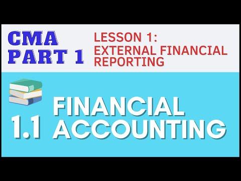CMA Part 1 | Lesson 1-1: Financial Accounting | CMA Free Lessons (English)