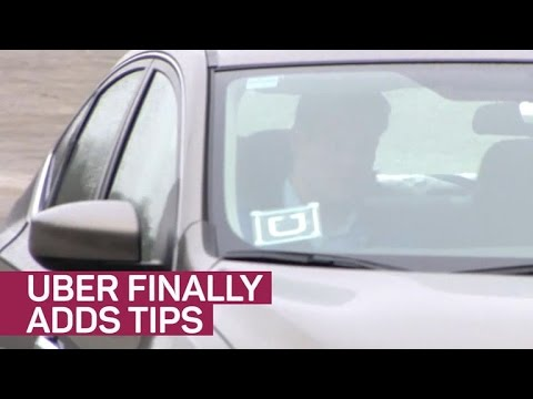 Uber Now Lets You Tip Drivers