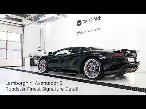 High End Detailing Lamborghini Aventador S Roadster Finest Signature Detail