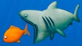 Гигантская АКУЛА съела всех рыбок. ИГРА Tasty Planet Forever с Кидом #9 на крутилкины