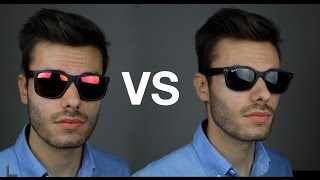 Ray-Ban Justin vs New Wayfarer(Ray-Ban RB2132 New Wayfarer vs RB4165 Justin on face Review ▻Buy Ray-Ban New Wayfarer http://amzn.to/1r9OtiQ ▻Buy Ray-Ban Justin ..., 2016-06-08T20:00:00.000Z)