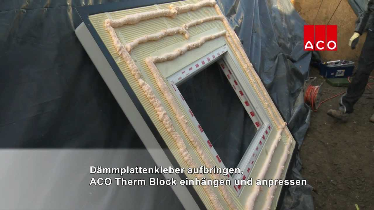 montage aco therm block und aco lichtschacht youtube. Black Bedroom Furniture Sets. Home Design Ideas