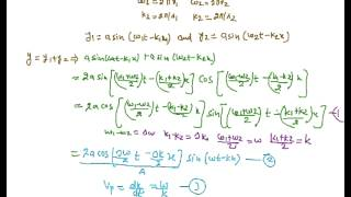Phase Velocity and Group Velocity, Relation between Phase Velocity and Group Velocity