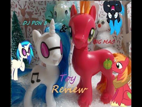 MLP Big Mac & Dj pon 3 toy review !!!