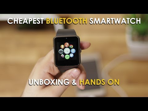 Cheapest Bluetooth Smartwatch GT08 - Unboxing And Hands On - ₹ 800 ($16)