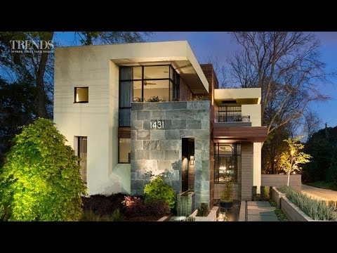 Contemporary suburban new home in Atlanta - on exposed corner lot
