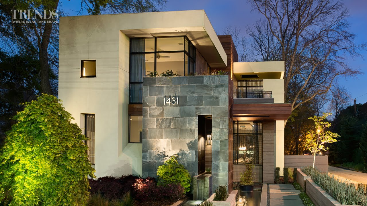 Contemporary Suburban New Home In Atlanta On Exposed Corner Lot Youtube