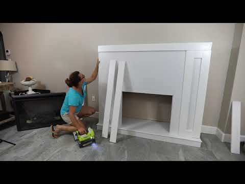 How To Build a DIY Fireplace Surround With an Electric Insert