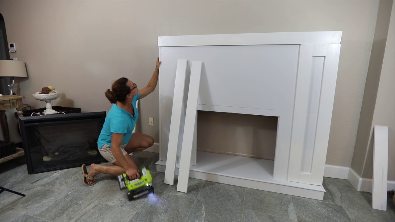 How To Build A Diy Fireplace Surround With An Electric Insert Youtube