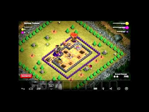 CLASH OF CLANS ROLLING TERROR 3 STARS TH7