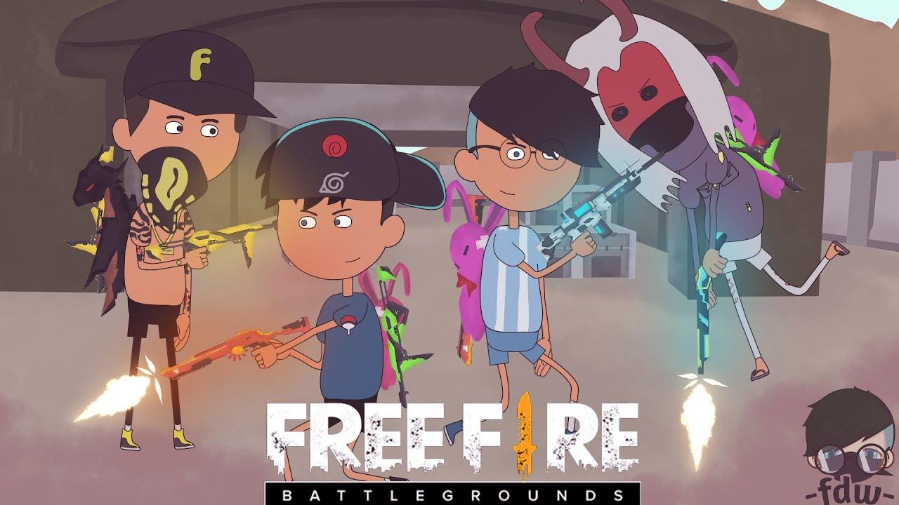 animation free fire  - copotin satu server bareng letda hyper dan efdewe - ANIMASI FF