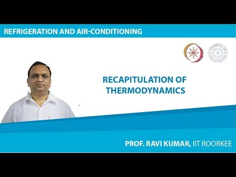 Lecture 1: Recapitulation of Thermodynamics