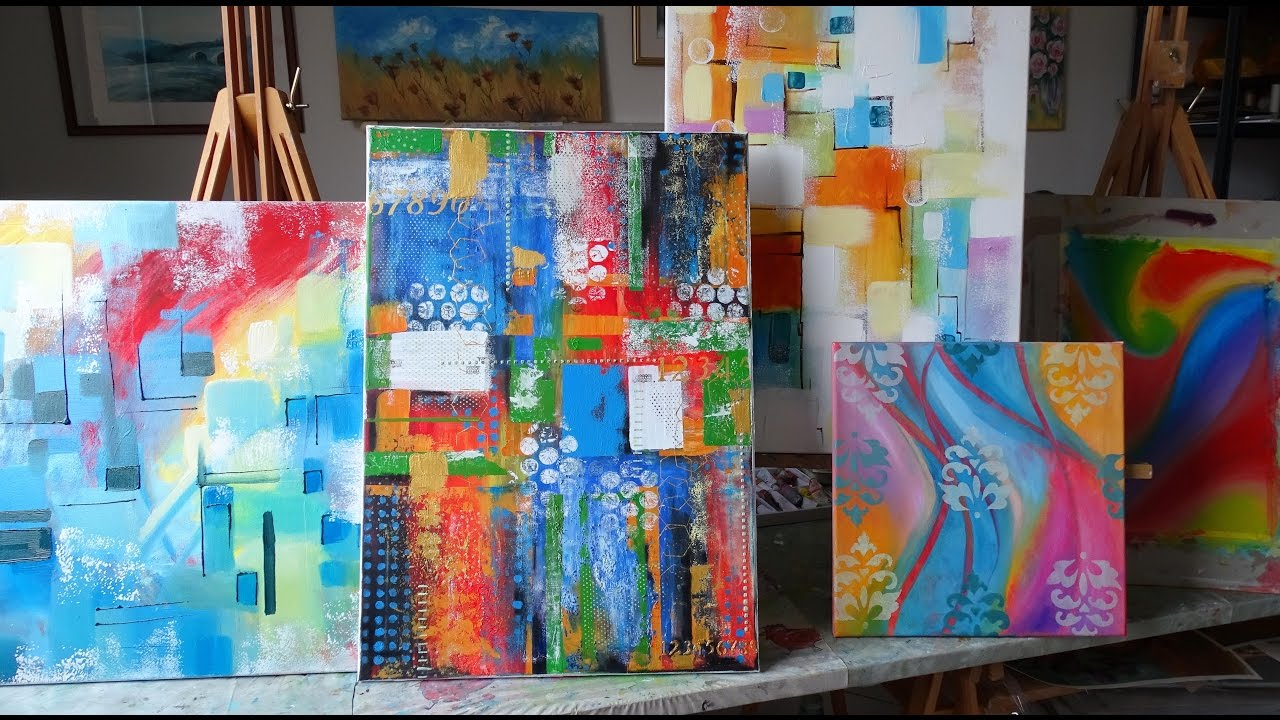 DIPINGERE ASTRATTO su tela ad olio corsi di pittura per