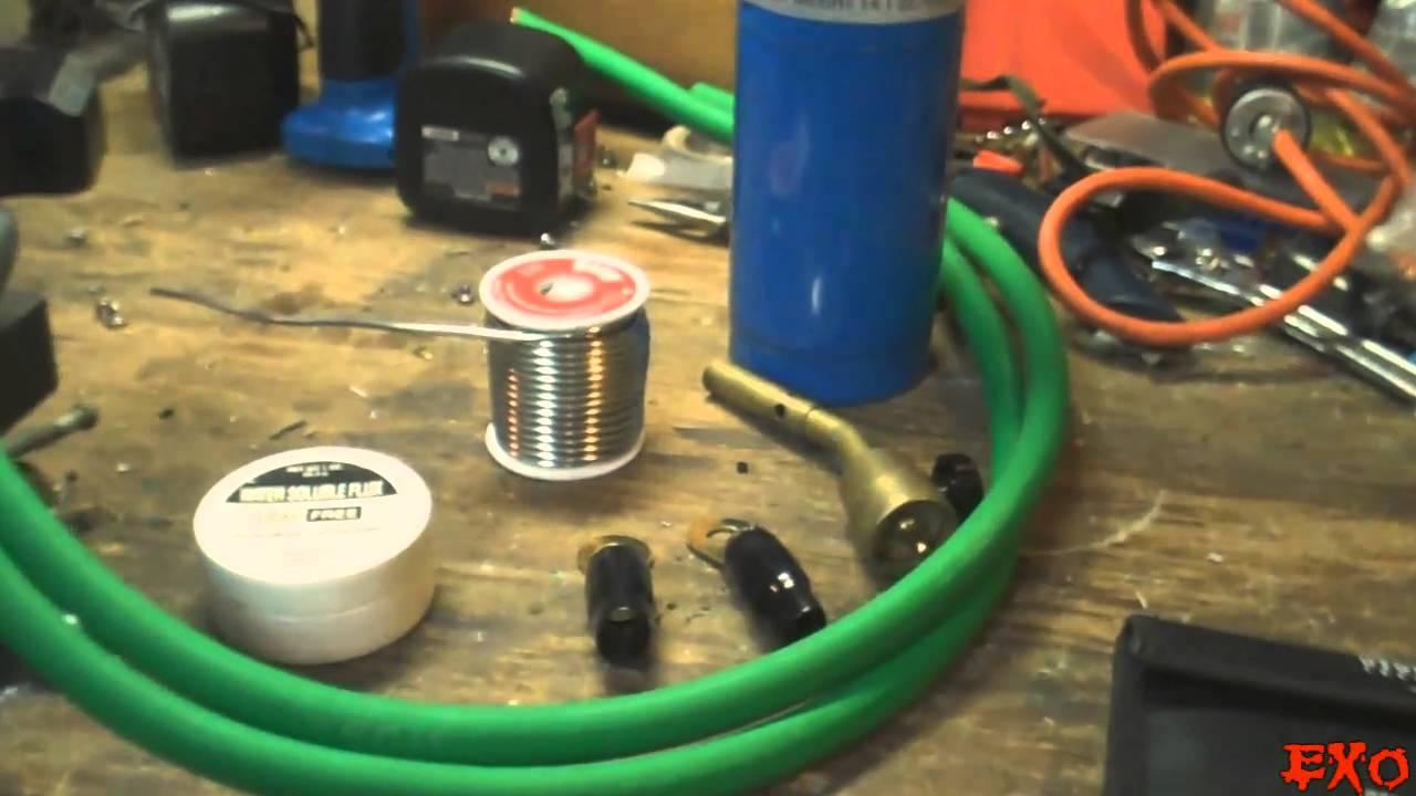 26 Gauge Wire >> How To Solder 1/0 Gauge Ring Terminals - EXO's Best Cheap SPL Car Audio Wire EASY Install Tips ...