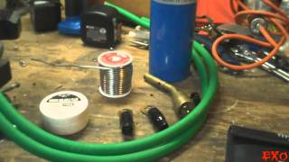 How To Solder 1/0 Gauge Ring Terminals - EXO's Best Cheap SPL Car Audio Wire EASY Install Tips