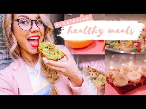 WHAT I EAT IN A DAY AT COLLEGE | Easy + vegetarian! ✨